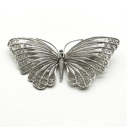 Silver Filigree Butterfly Brooch (Sold)