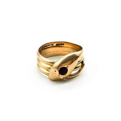 Edwardian 9ct Rose Gold Snake Ring