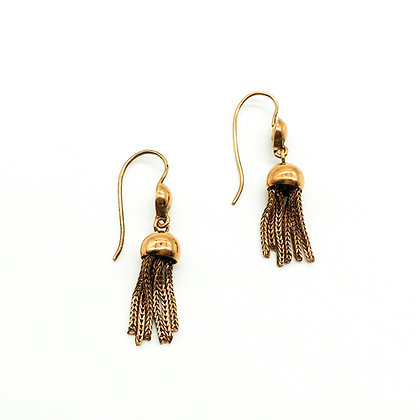 Victorian 9ct Rose Gold Tassel Earrings