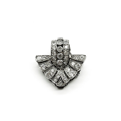 Art Deco Platinum and Diamond Clip (Sold)