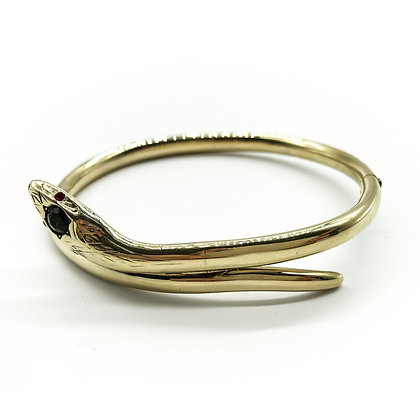 14ct Yellow Gold Snake Bangle (Sold)