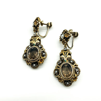 Silver Gilt Austro-Hungarian Drop Earrings (Sold)