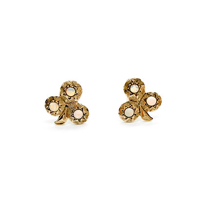 9ct Rose Gold Opal Stud Earrings