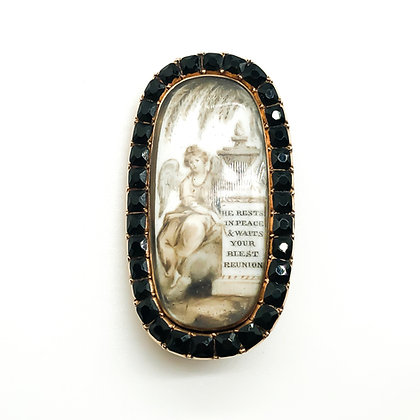 15ct Gold Memorial Brooch with Onyx (Sold)