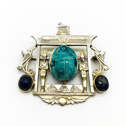 Silver Gilt Egyptian Revival Brooch/Pendant (Sold)