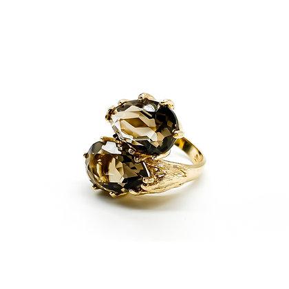14ct Gold Smokey Quartz Ring
