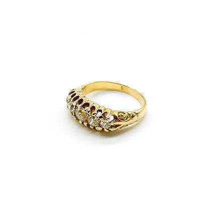 Edwardian 18ct Gold and Diamond Ring