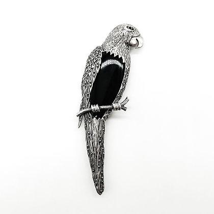 Large Silver Vintage Parrot Brooch (Sold)