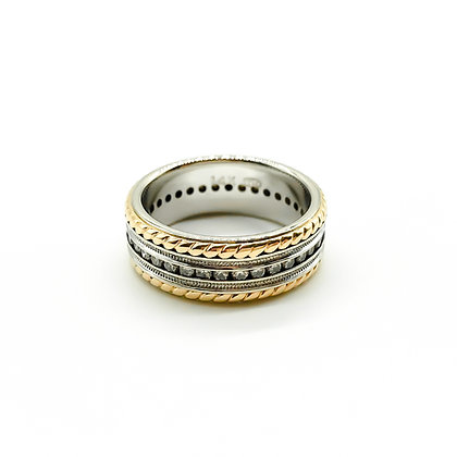 14ct Rose Gold and White Gold Eternity Ring