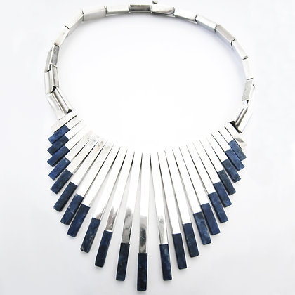 Mexican Silver and Sodalite Choker (Sold)