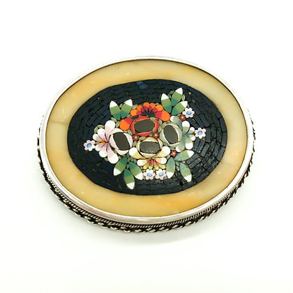 Vintage Silver Micro Mosaic Brooch (Sold)
