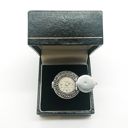Vintage Silver Marcasite Watch Ring (Sold)