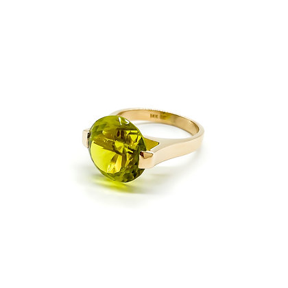 14ct Gold Ring set with Green Tourmaline