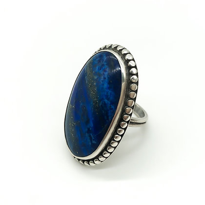 Vintage Silver Ring set with Lapis Lazuli (Sold)