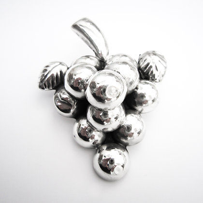 Silver Mexican Grape Brooch (Sold)