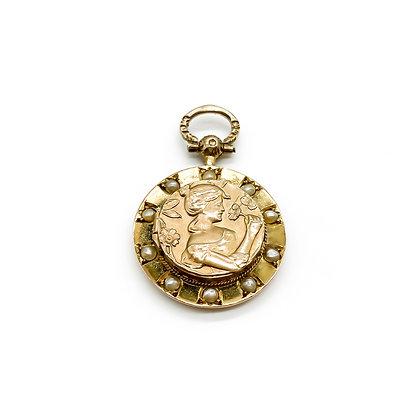 9ct Gold Art Nouveau Pendant (Sold)