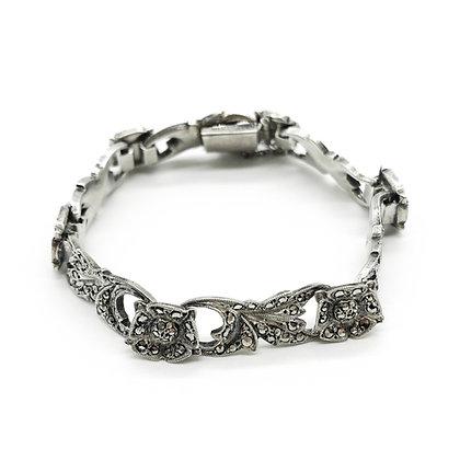 Vintage Silver Marcasite Bracelet