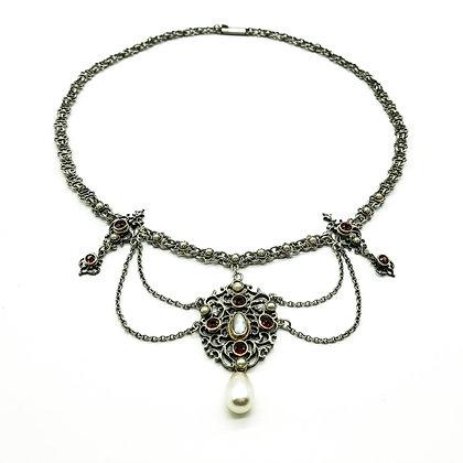Edwardian Silver Festoon Necklace (Sold)
