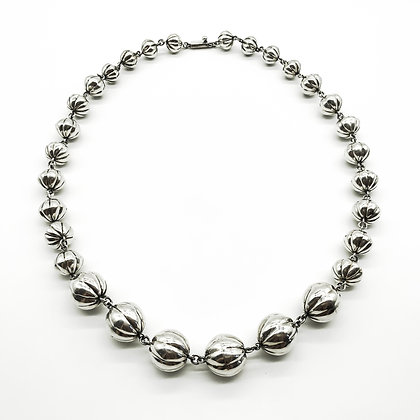Vintage Mexican Silver Bobble Necklace (Sold)