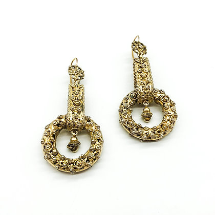 Silver Gilt Drop Earrings