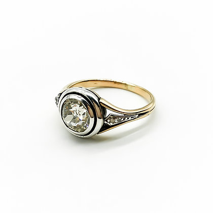 18ct Gold and Platinum Ring with 1.4ct Old-European Cut Diamond (Sold)