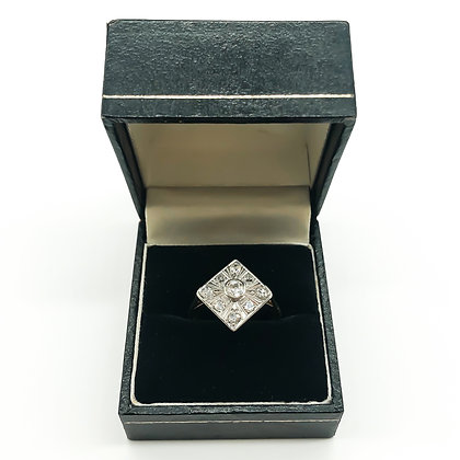 Art Deco 18ct Gold and Diamond Ring (Sold)