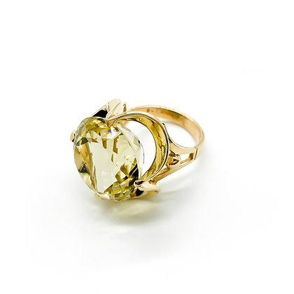 9ct Rose Gold Lemon Quartz Ring
