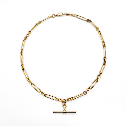 Victorian 9ct Rose Gold Fob Chain
