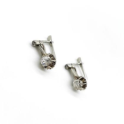 1920's 18ct White Gold Diamond Earrings