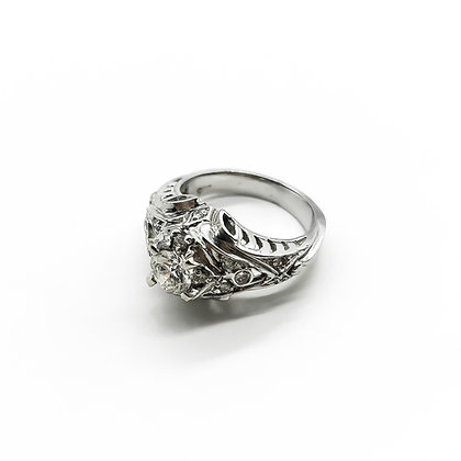 Antique Style 18ct White Gold and Diamond Ring (P.O.R)