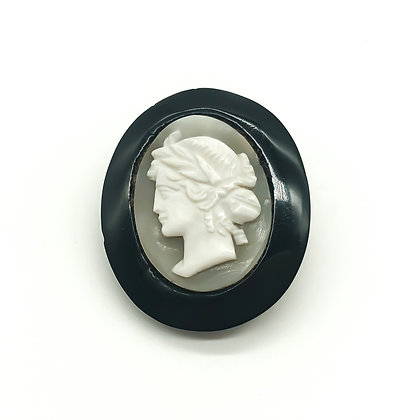 Victorian Cameo with Jet (Sold)