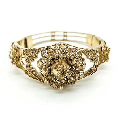 Silver Gilt Filigree Bangle