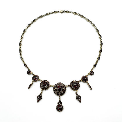 Silver Gilt Garnet Necklace
