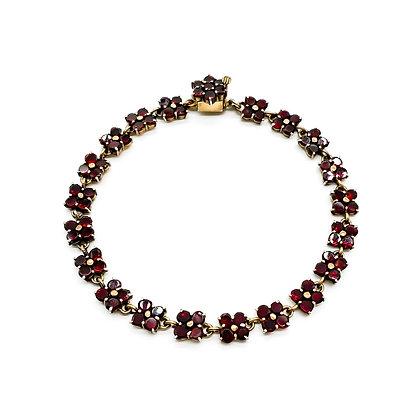 Edwardian Gilt Garnet Bracelet