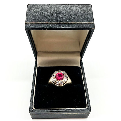 Victorian 18ct Gold Ruby and Diamond Ring (Sold)