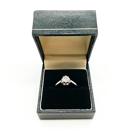 Vintage 18ct White Gold Ring with 0.50ct Diamond