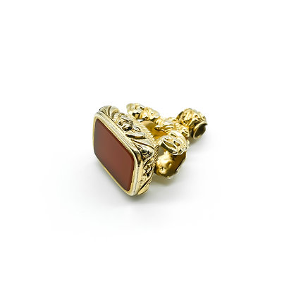Victorian Gold Plated Carnelian Seal