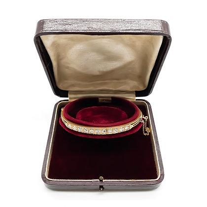 Victorian 15ct Gold Diamond Bangle