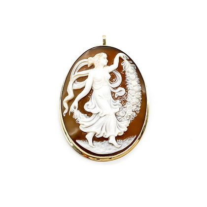 12ct Gold Vintage Cameo Brooch/Pendant