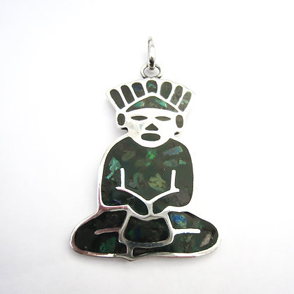 Silver Mexican Aztec Man Pendant (Sold)