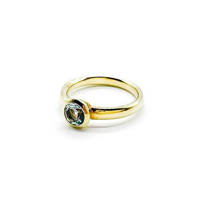 14ct Gold Aquamarine Ring