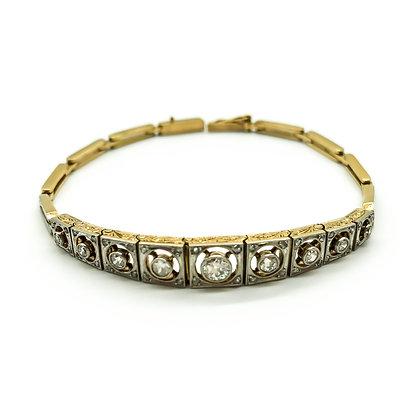 Art Deco 18ct Gold/Platinum Diamond Bracelet (Sold)
