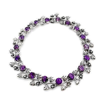 Mexican Silver and Amethyst Choker