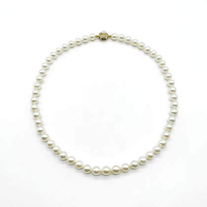 Short String of 7mm Cultured Pearls