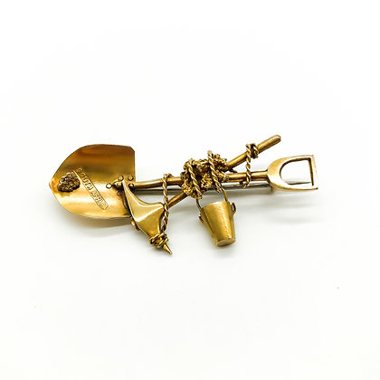 Victorian 9ct Gold South African Miner's Brooch