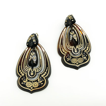 Large Victorian Piqué Earrings (Sold)