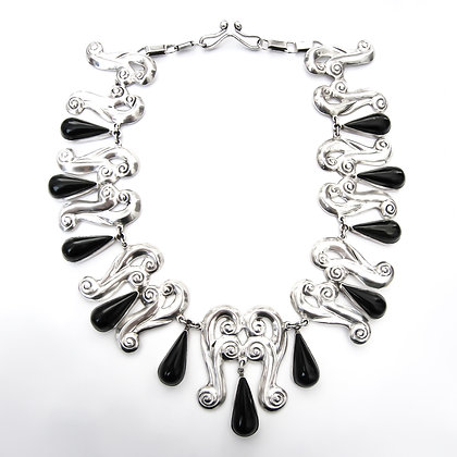 Silver Mexican Onyx Necklace (Sold)