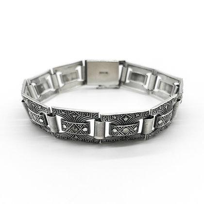 Art Deco Silver Marcasite Bracelet (Sold)