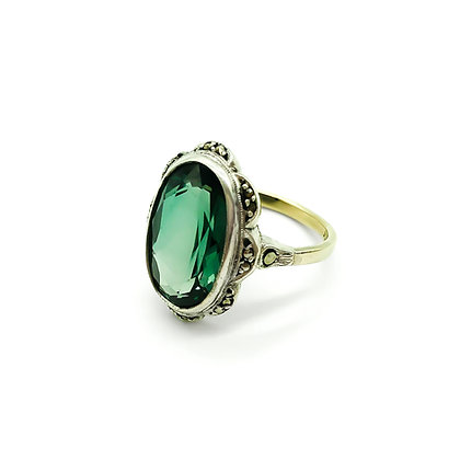 Vintage Gold and Silver Marcasite Ring (Sold)
