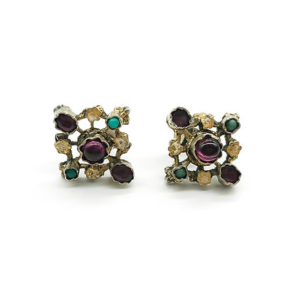 Silver Gilt Austro-Hungarian Stud Earrings (Sold)